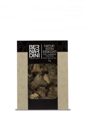 Sliced dry summer truffle