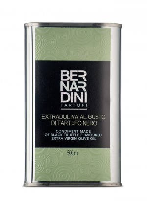 Extra virgin olive oil with black truffle - can 500ml